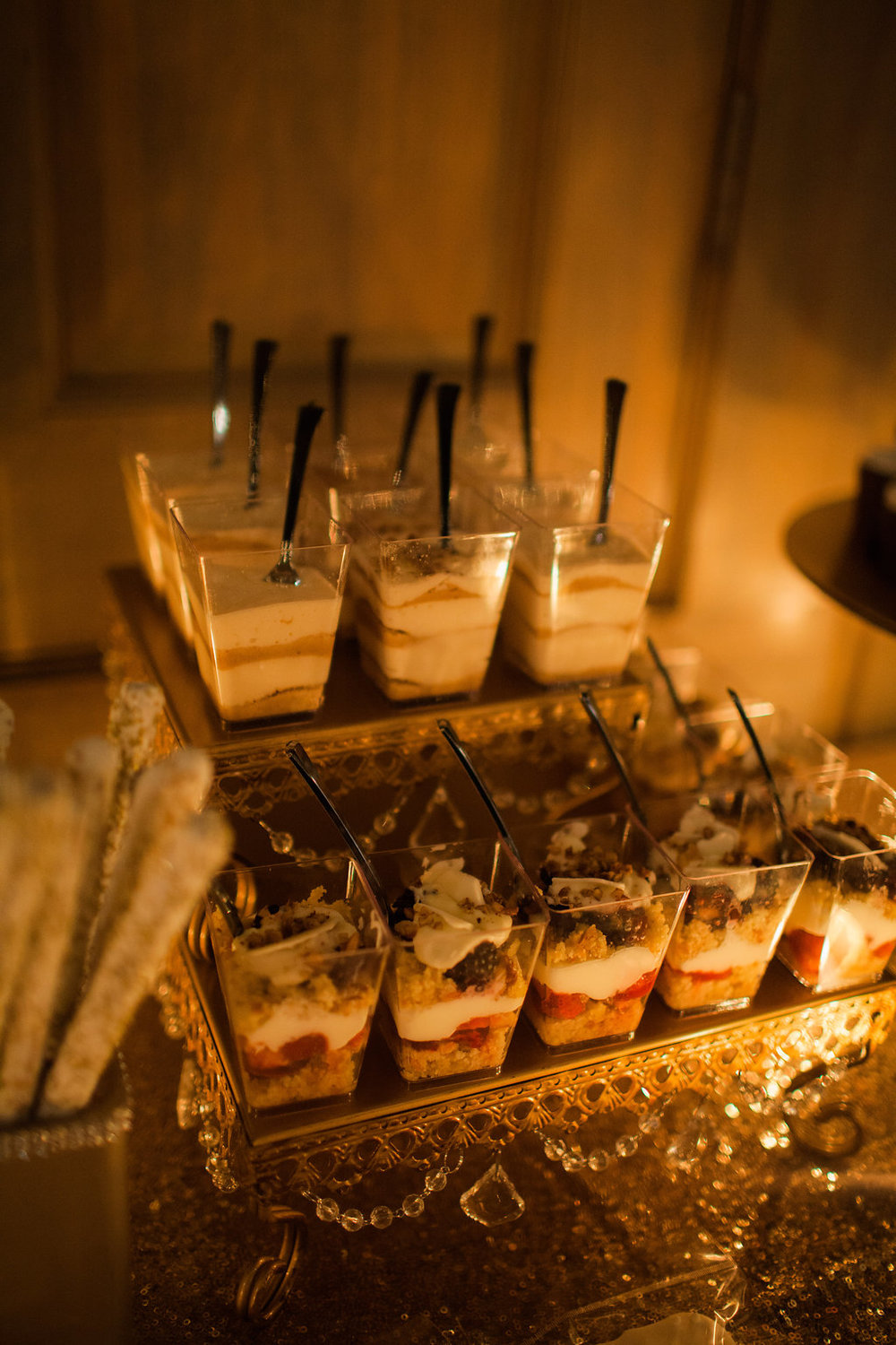 dessert parfait wedding reception