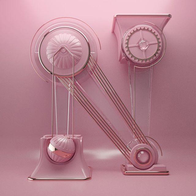 Nadeshiko pink. #36days_n #n #c4d