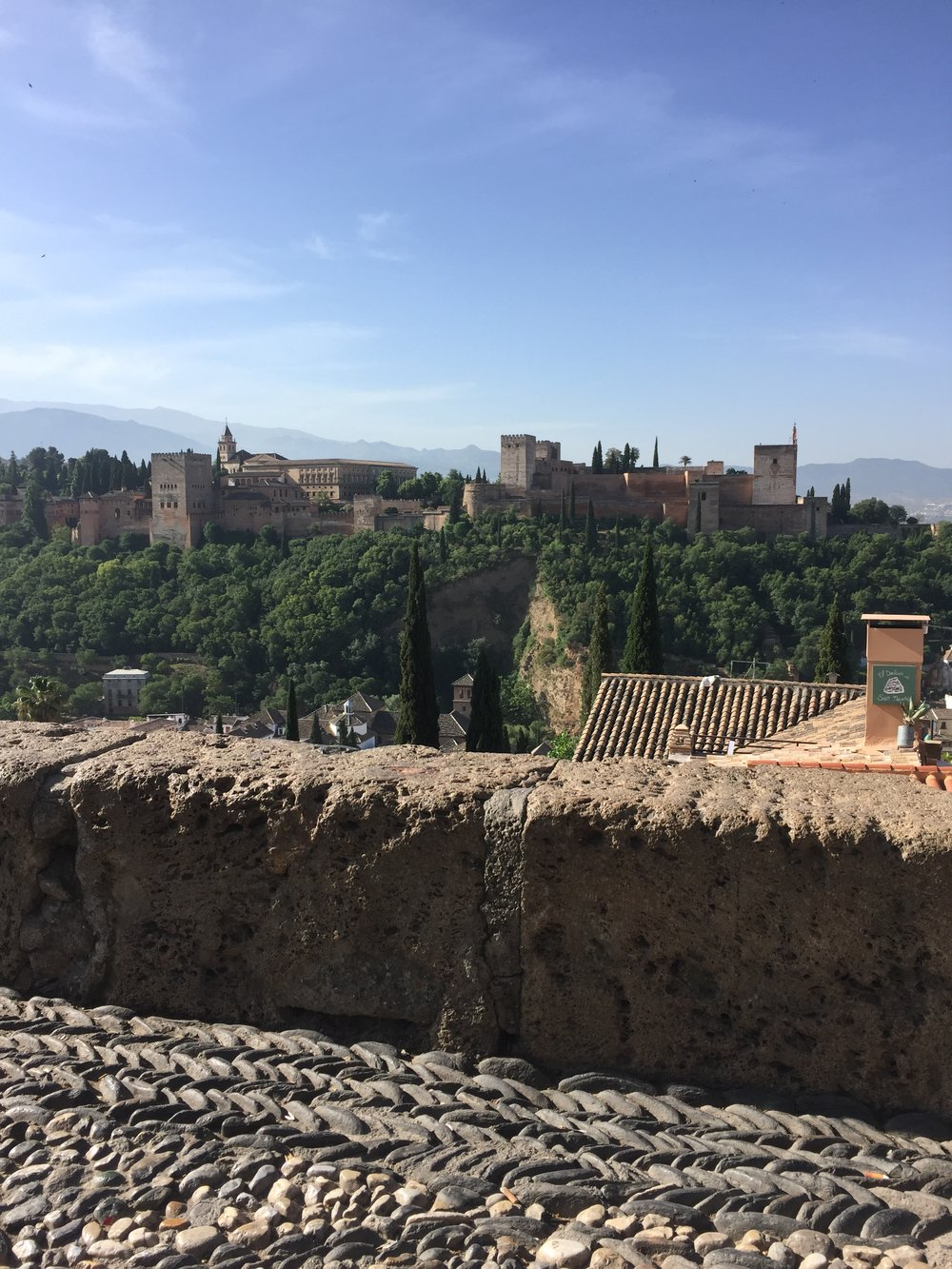 A view of the Alhambra from the San Nicolas Viewpoint