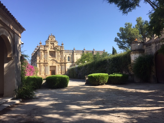 The former Carthusian Monestary of Nuestra Senora de la Defension, which is now home to very talented nuns. This picture was taken on a separate day, as it appears much further in the distance from the horse farm.