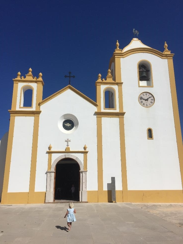 The beautiful church in Luz, Lagos, Portugal.
