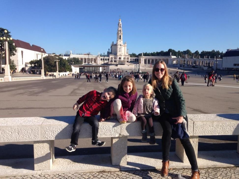 How do you pose in a holy place like Fatima? Just like mass, this stop was a bit trying with our preschoolers. But their faith is big and real and they are learning. We all just keep on trying.