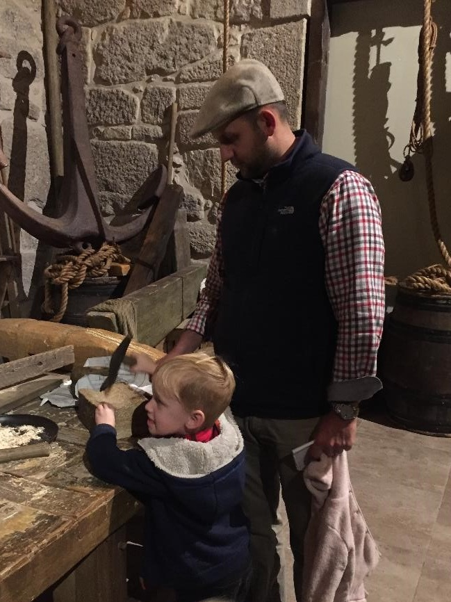 There were many hands on exhibits in The World of Discoveries, including this even real shipbuilding room.