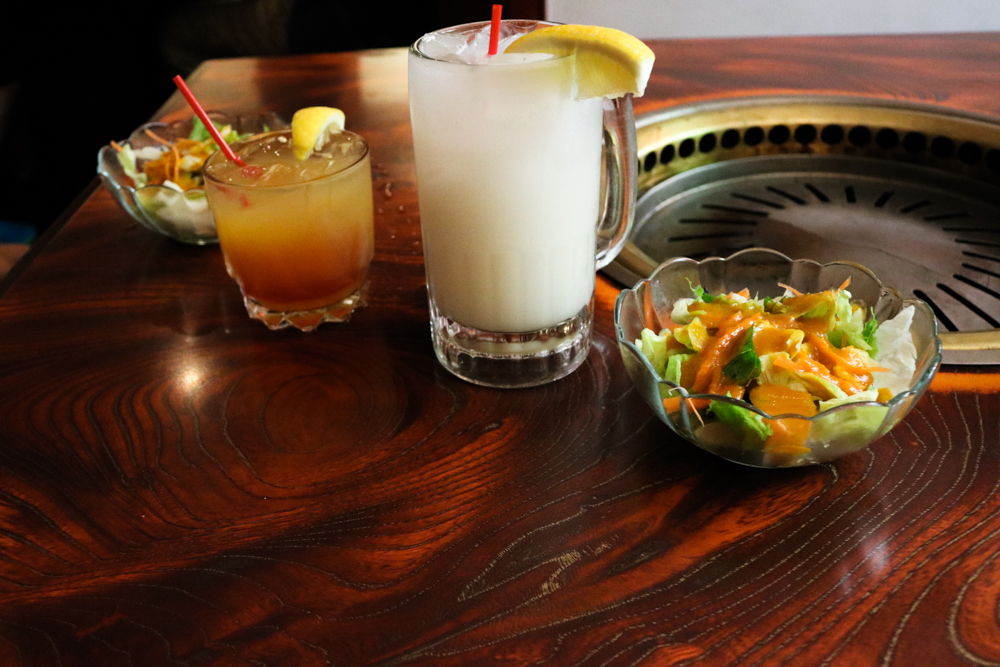 Yuzu and Calpico Soju Cocktails