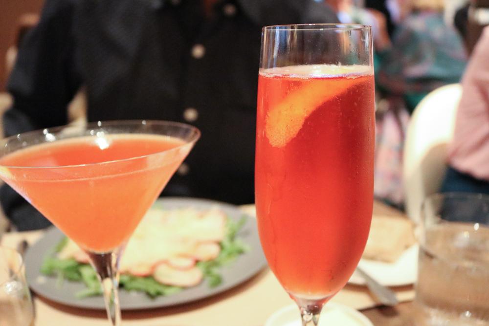 Peach Daiquiri and  Strawberry Royale