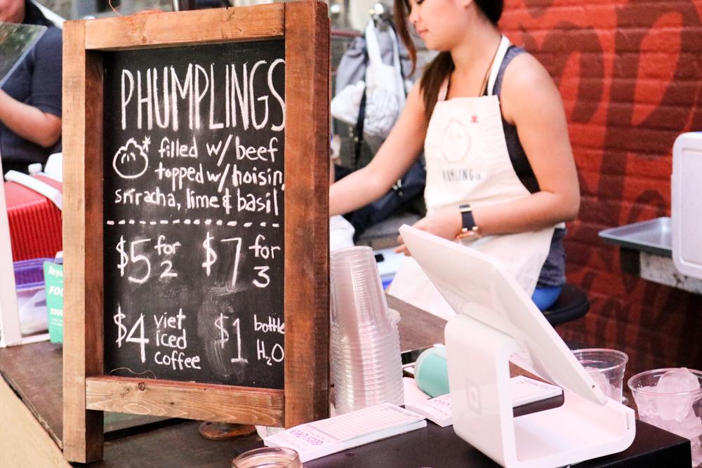 Pho filled dumplings at  Phumpling Co.