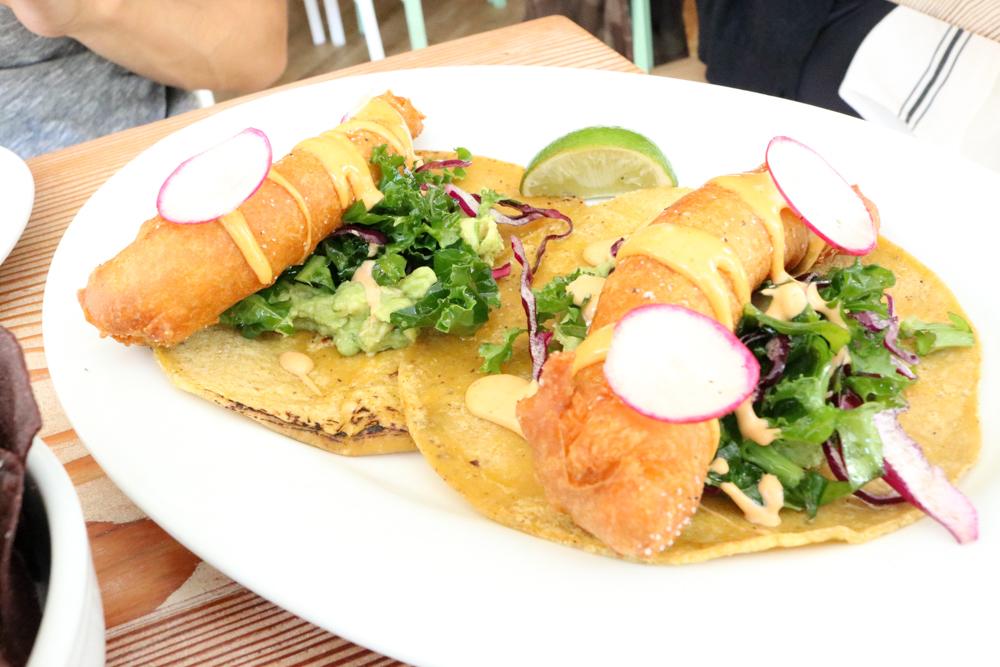 Fish Tacos,  Crispy Fish: Dogfish