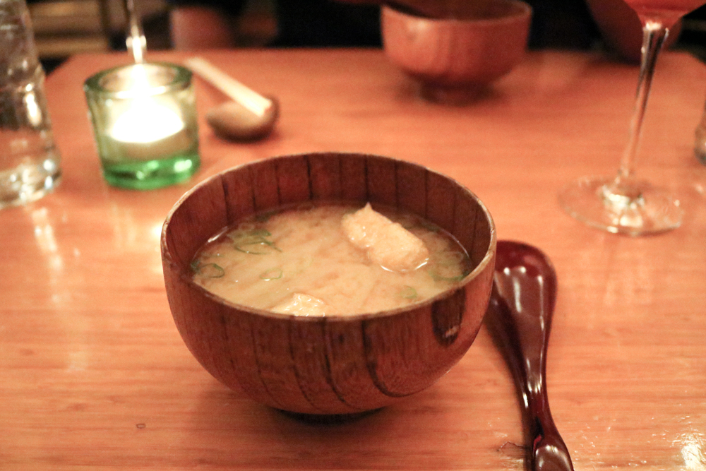 White Miso Soup with Tofu and Wakame