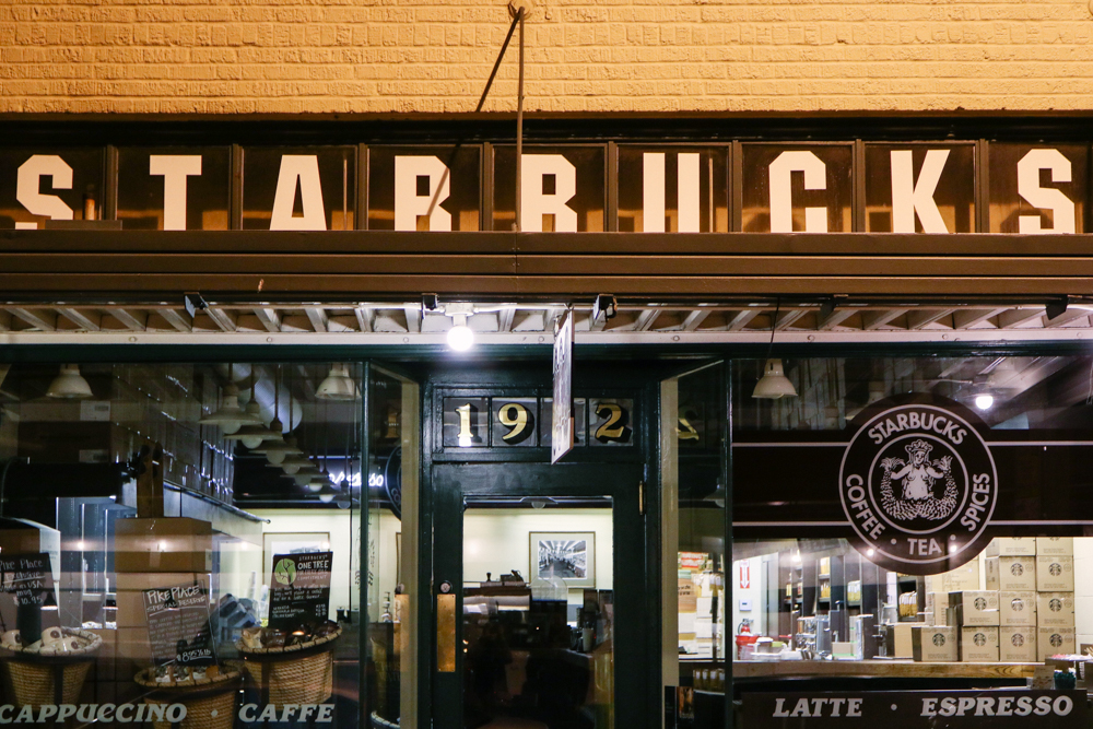 The First Starbucks,  ever