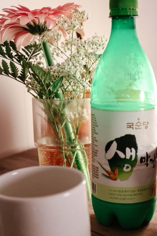 Matgeoli 생 막걸리 (Korean rice liquor)