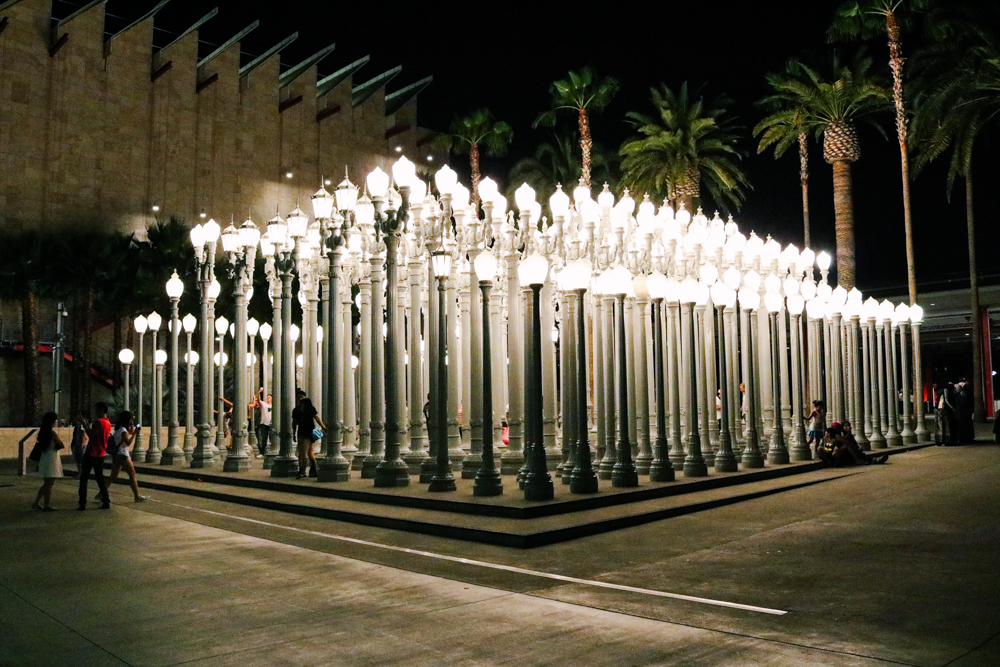Urban Lights at  LACMA (Los Angeles County Museum of Art)