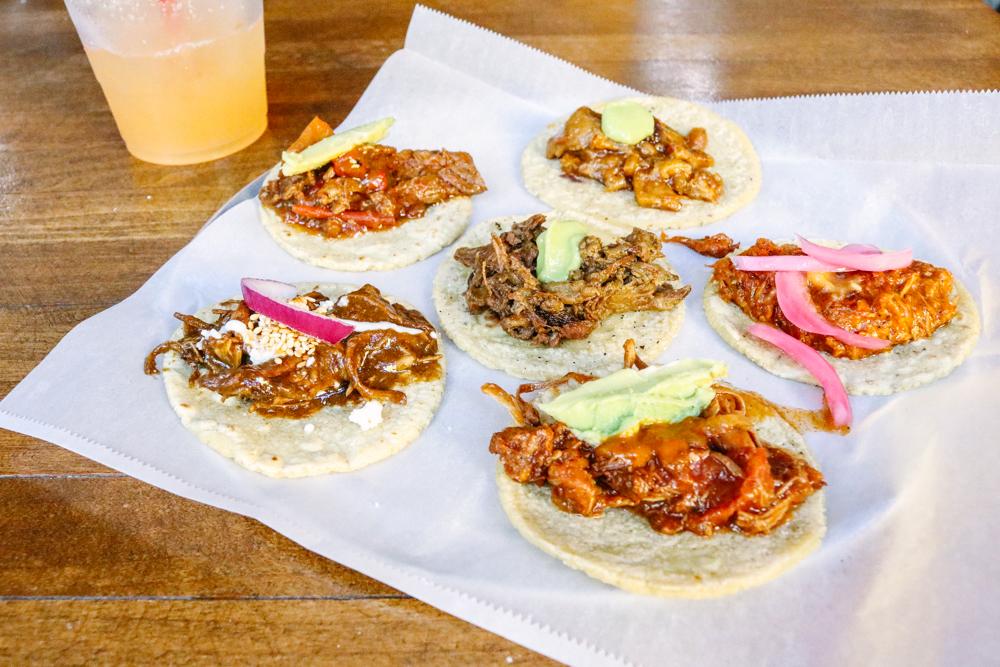 Taco platter at  Guisados