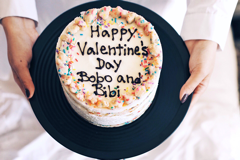 Happy Valentine's Day,  from Bobo and Bibi