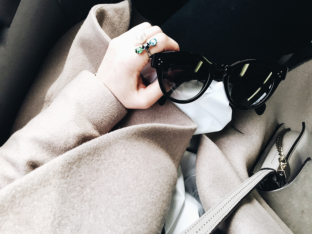 Joomi Lim Ring, Céline Sunglasses, Chloé Bag, All Saints Coat