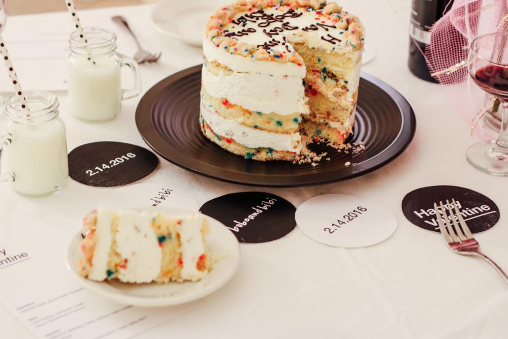 "Momofuku Milkbar 6"" Birthday Cake, rainbow cake crumble, sprinkles, vanilla frosting"