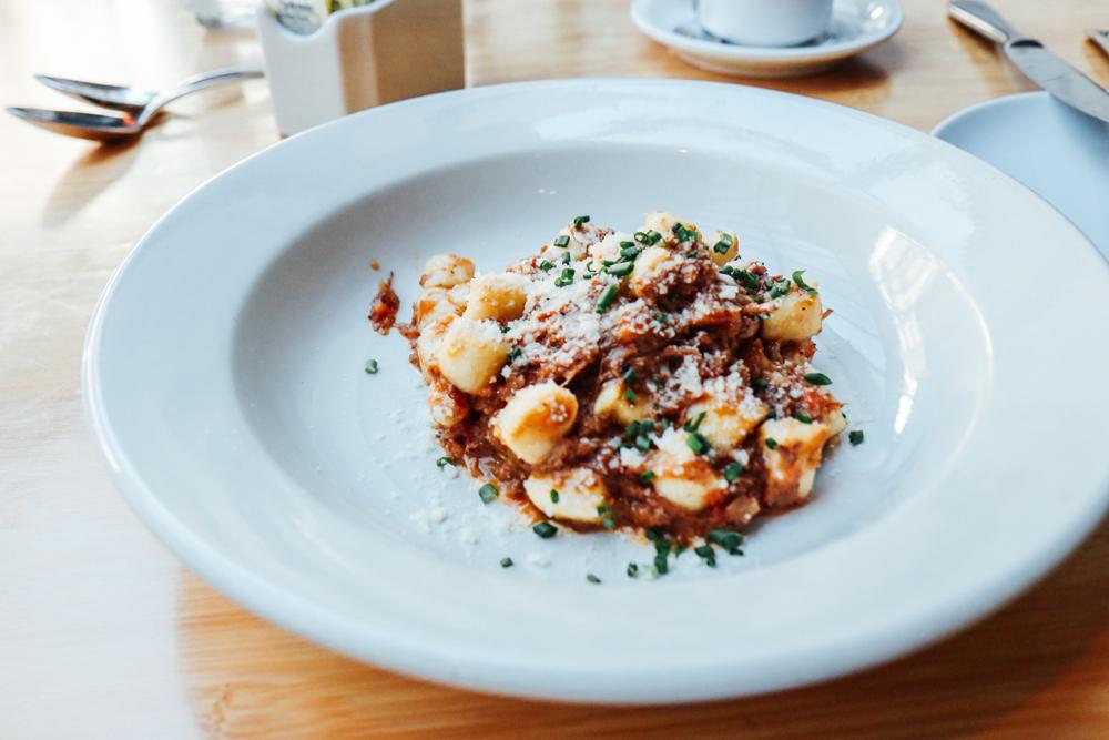 Potato Gnocchi,  wild boar bolognese, grana, rosemary