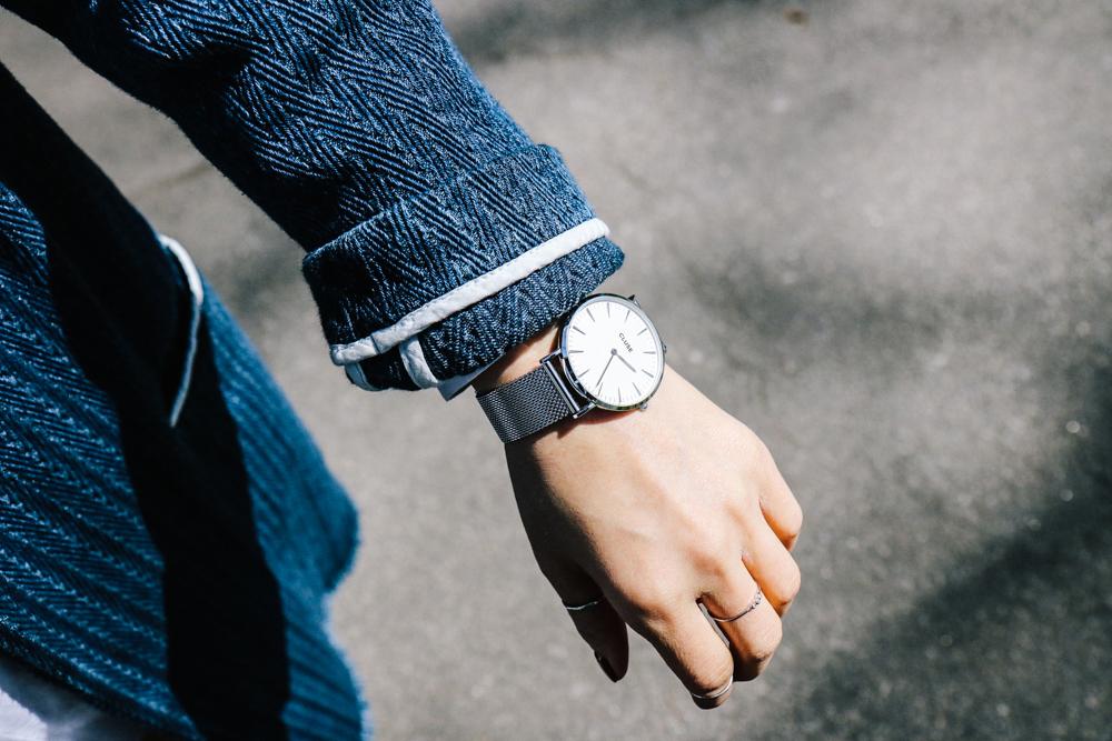 Cluse Watch, la bohème mesh silver/white