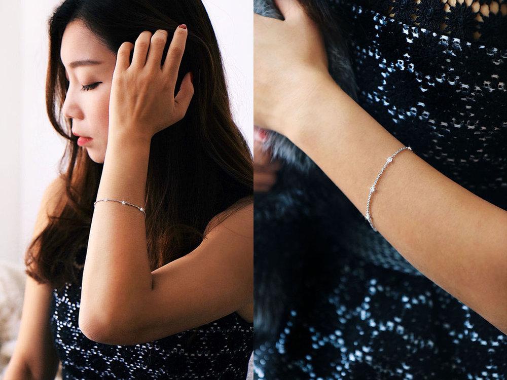 Holiday Sparkle with,     Zales   Everyday Diamonds Bracelet