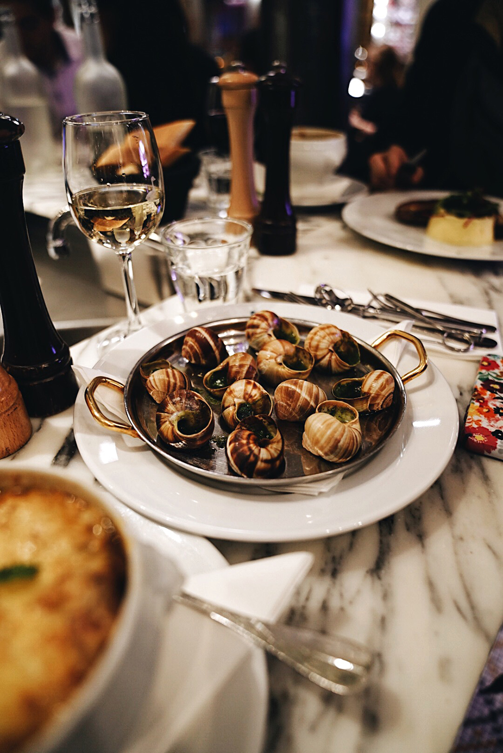 Our first time trying Escargot!