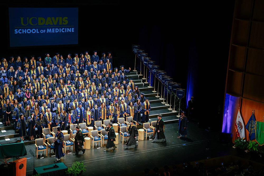 Graduation at  University of California, Davis
