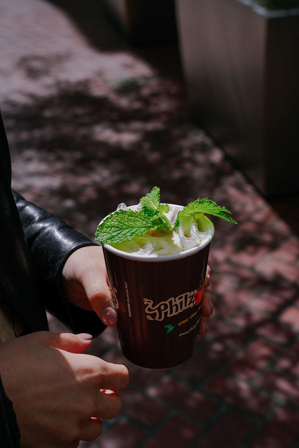Mojito Coffee at  Philz Coffee