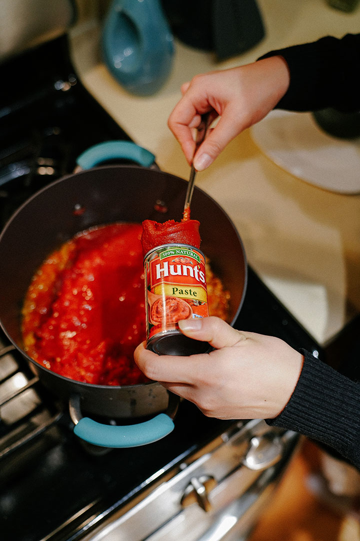 Add 1 Can of Tomato Paste.