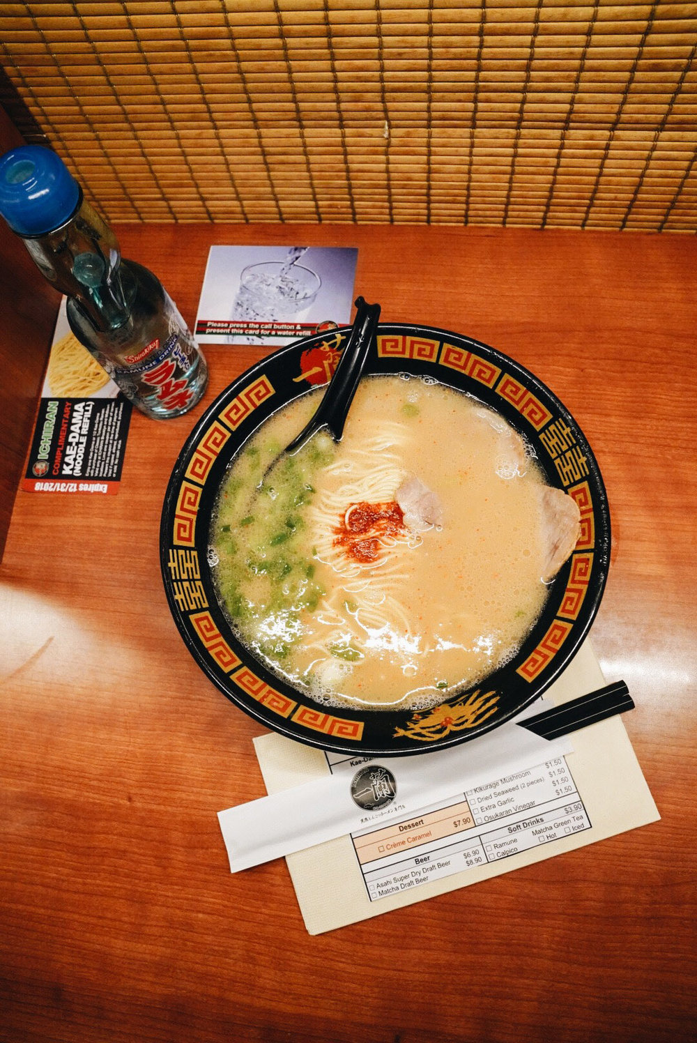 Ichiran Ramen , the best Japanese Ramen I ever had!