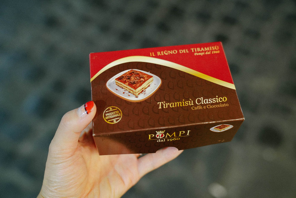 Pompi  Tiramisu for dessert!
