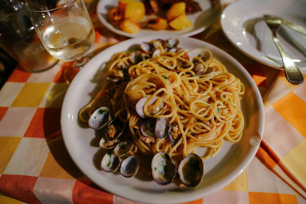 Late dinner at  La Moretta