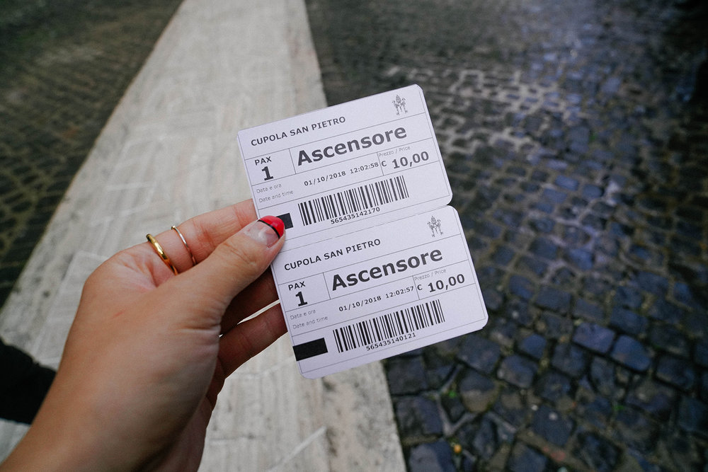 Ticket to Cupola San Pietro - need to purchase them separately (not included with General Admission).