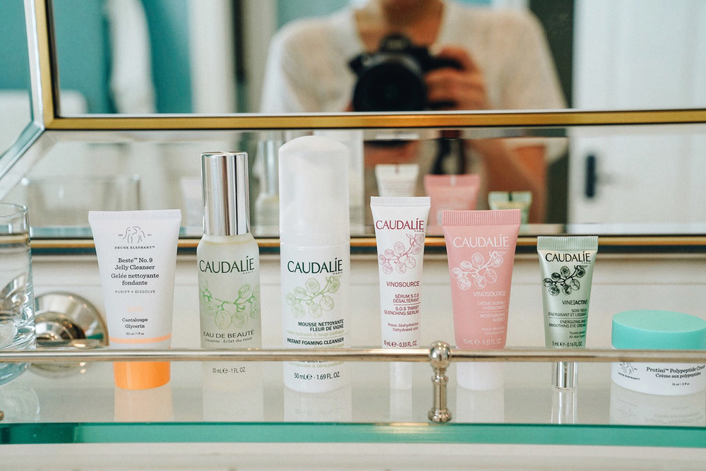 Travel Skincare with  Drunk Elephant  &  Caudalie