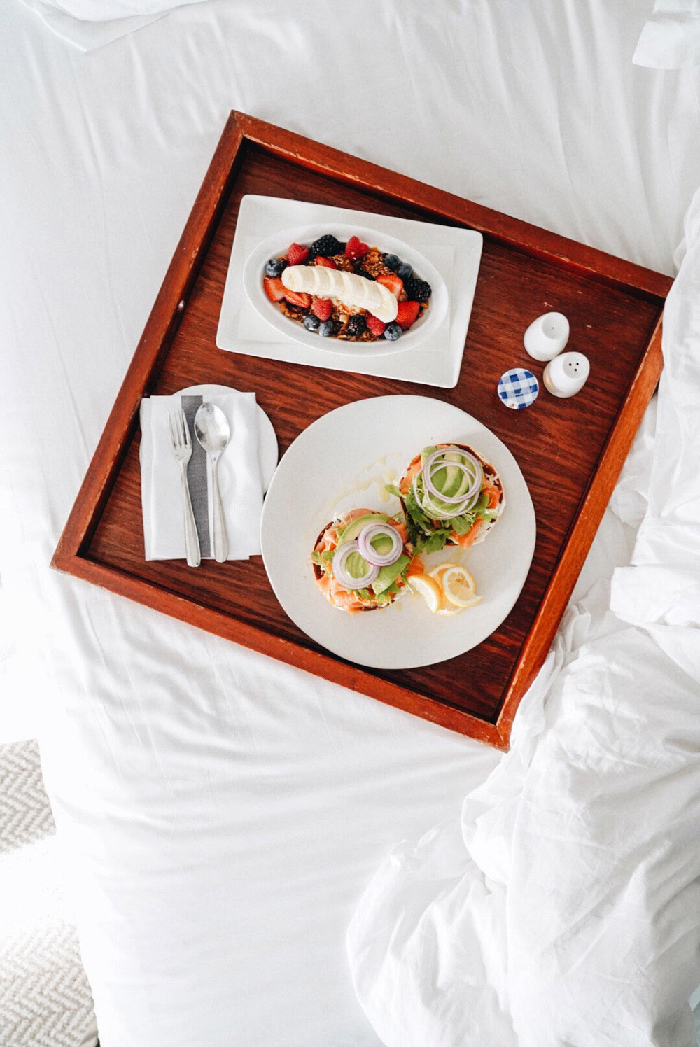 Breakfast in Bed before departure