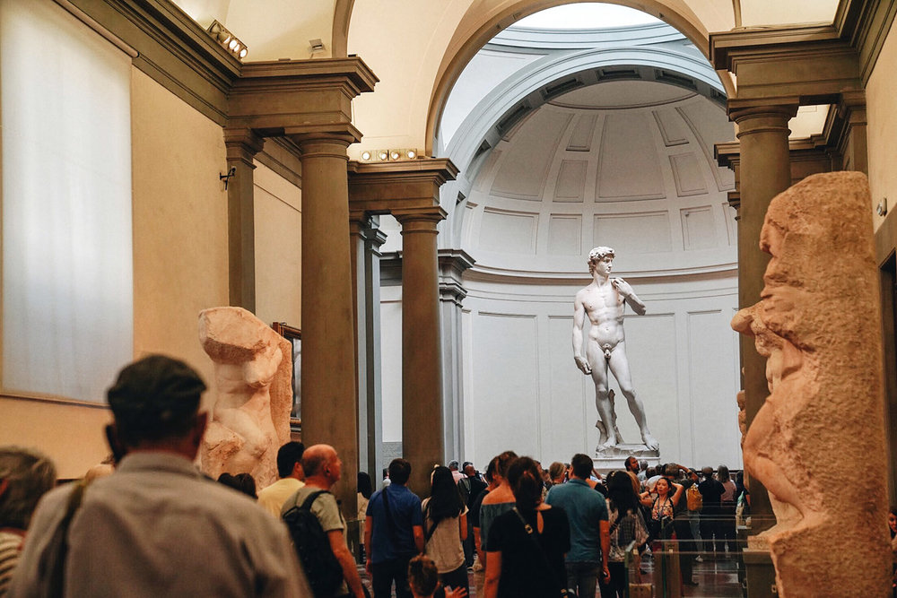 David by Michaelangelo at  Accademia Gallery