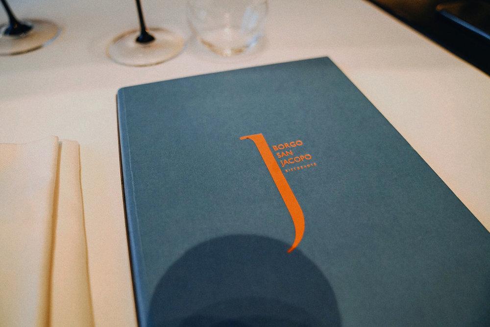 Dinner at  Borgo San Jacopo , 1 Michelin Star Restaurant inside Hotel Lungarno.