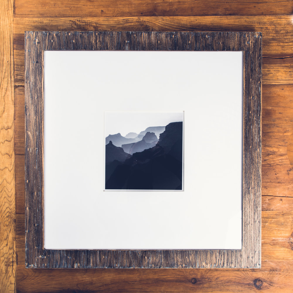 Rhythm of Canyon - Rustic wood frame 60x60cm — Teemu Oksanen Photography