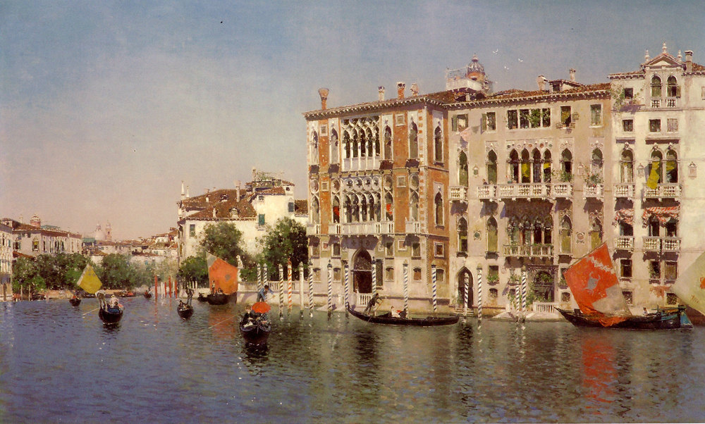 A view of Palazzo Cavalli and Palazzo Barbaro  on the Grand Canal