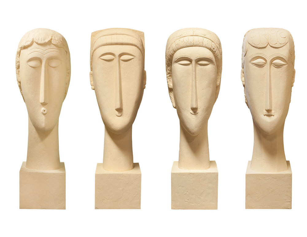 Plaster Sculpture - Homage to Modigliani