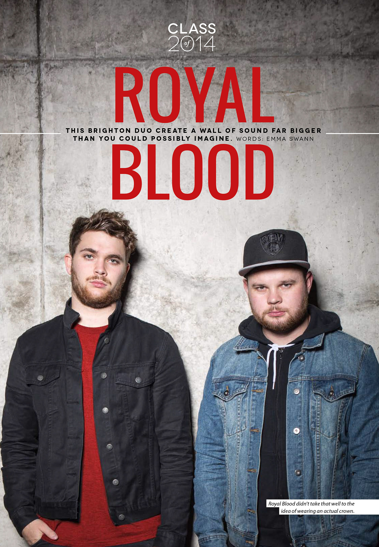 Royal Blood: Tear sheet from Fake DIY's, Class of 2014. Lovely guys, awesome music.