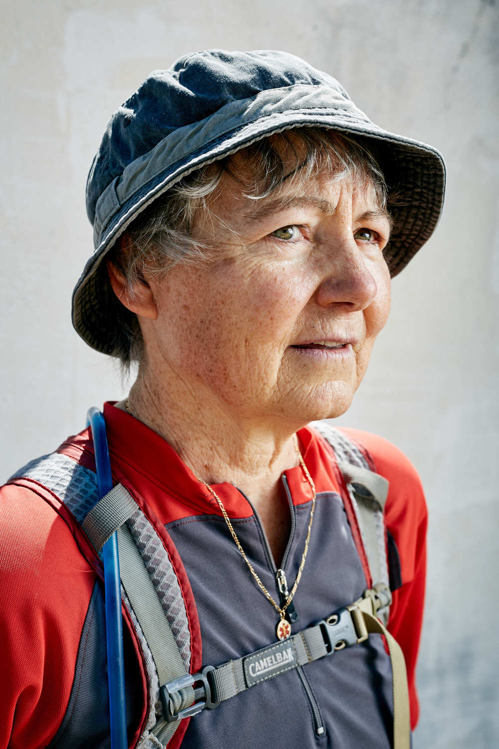 Portraits of Pilgrims on The Camino Way, nr. Leon, Spain.