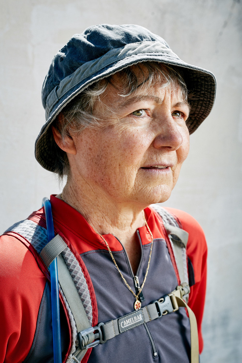 Portraits of Pilgrim's on The Camino Way, nr. Leon, Spain. July 2016.