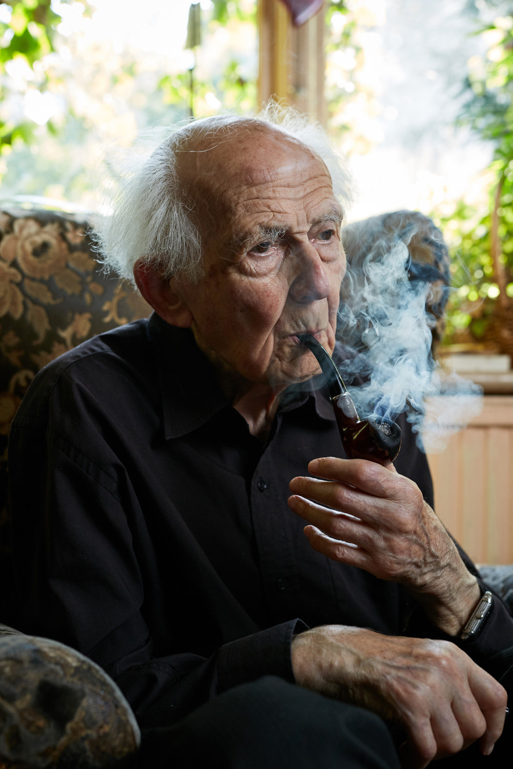 Prof. Zygmunt Bauman at his Leeds home.