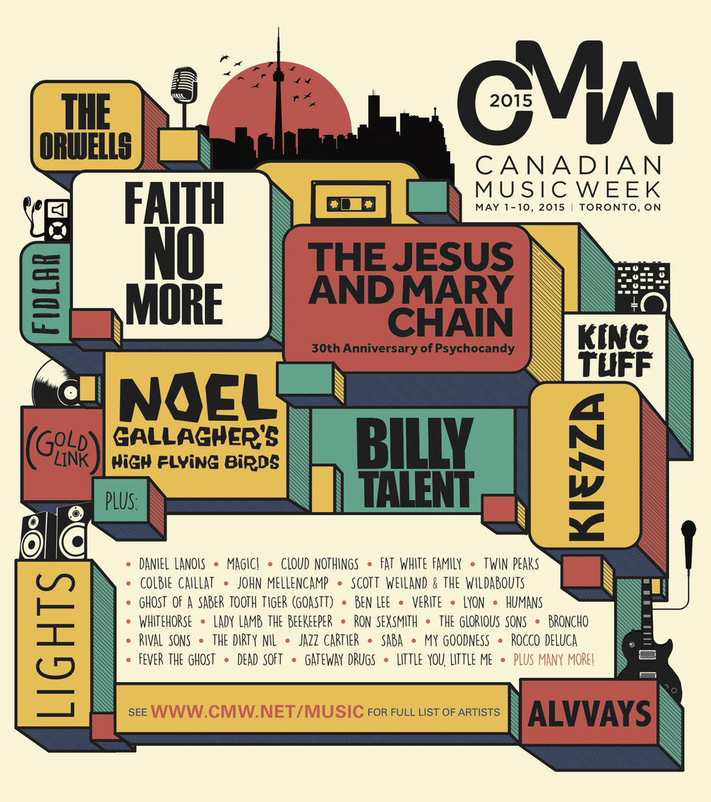 Canadian Music Week announces their first wave of performers.
