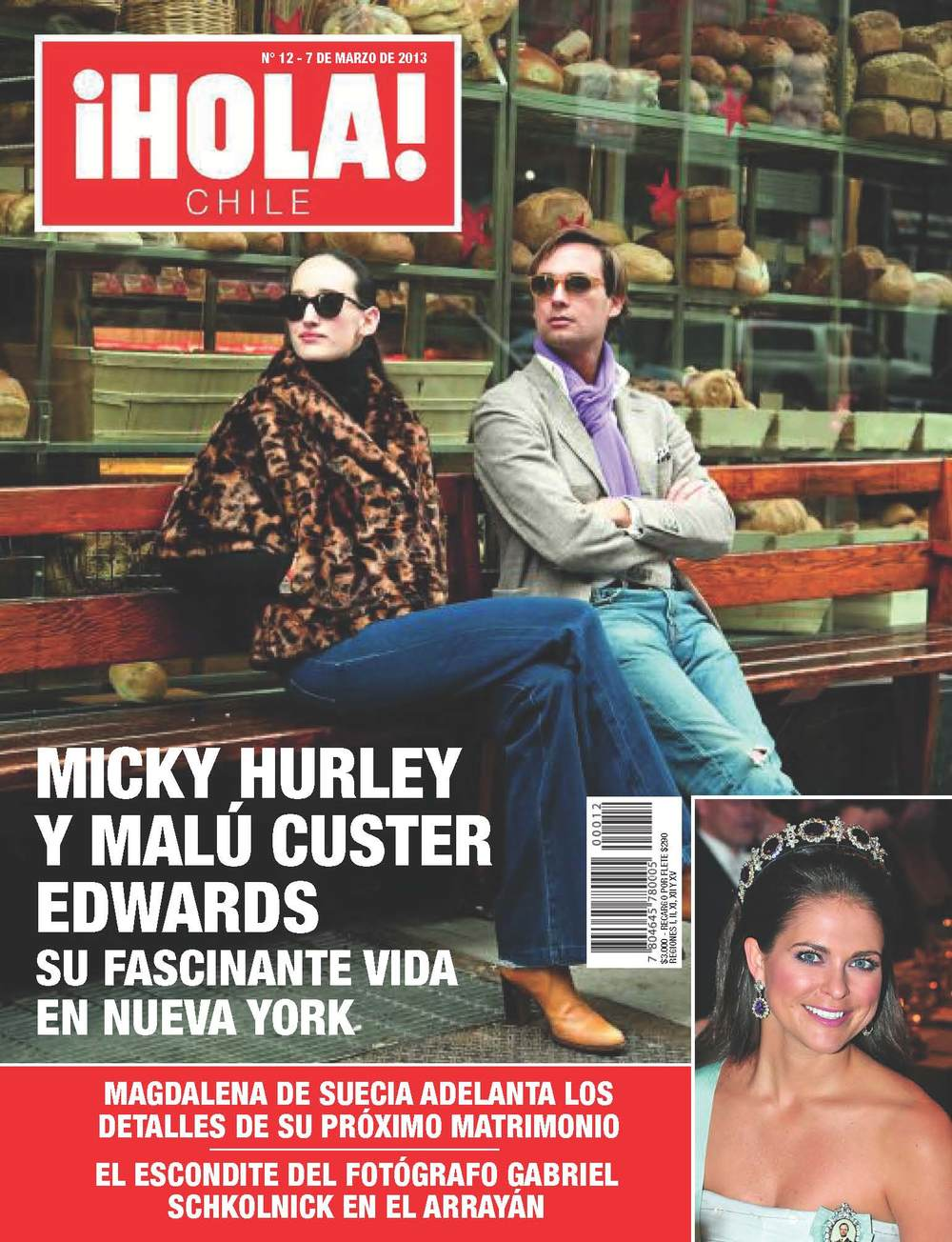 Micky Hurley Hola Chile Magazine Cover