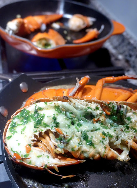 meg-made: Grilled garlic/chilli/parsley butter lobster Gordon Ramsay