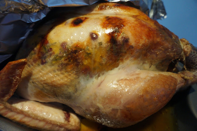 meg-made: Christmas Turkey with flavoured butter