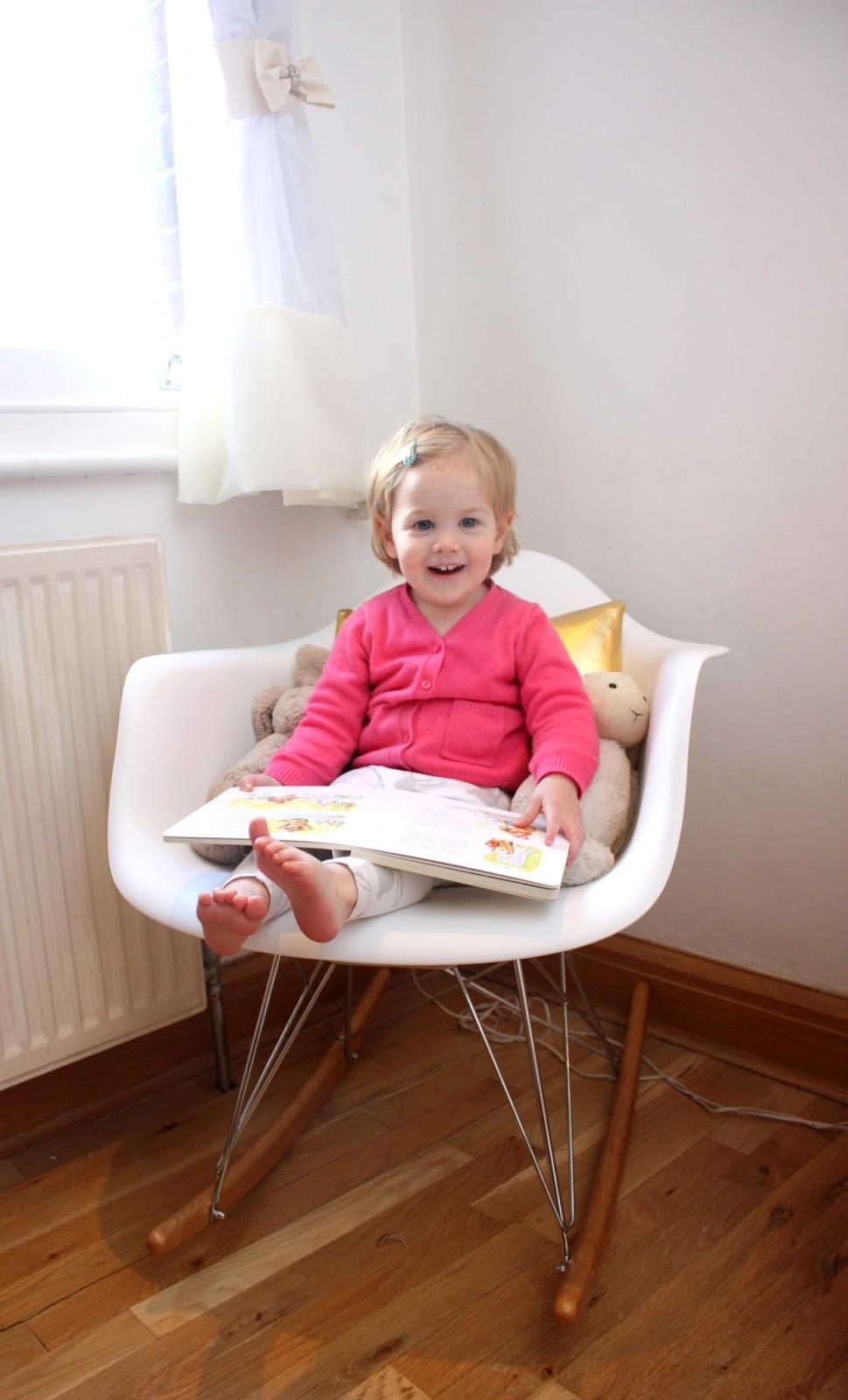 Baby to Little Lady Nursery Update Nursing to Rocking chair meg