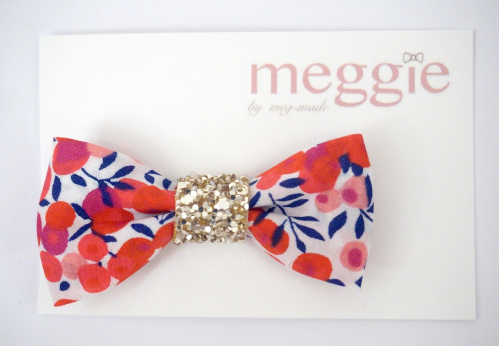 meggie meg-made Etsy: Liberty Cherry Bow