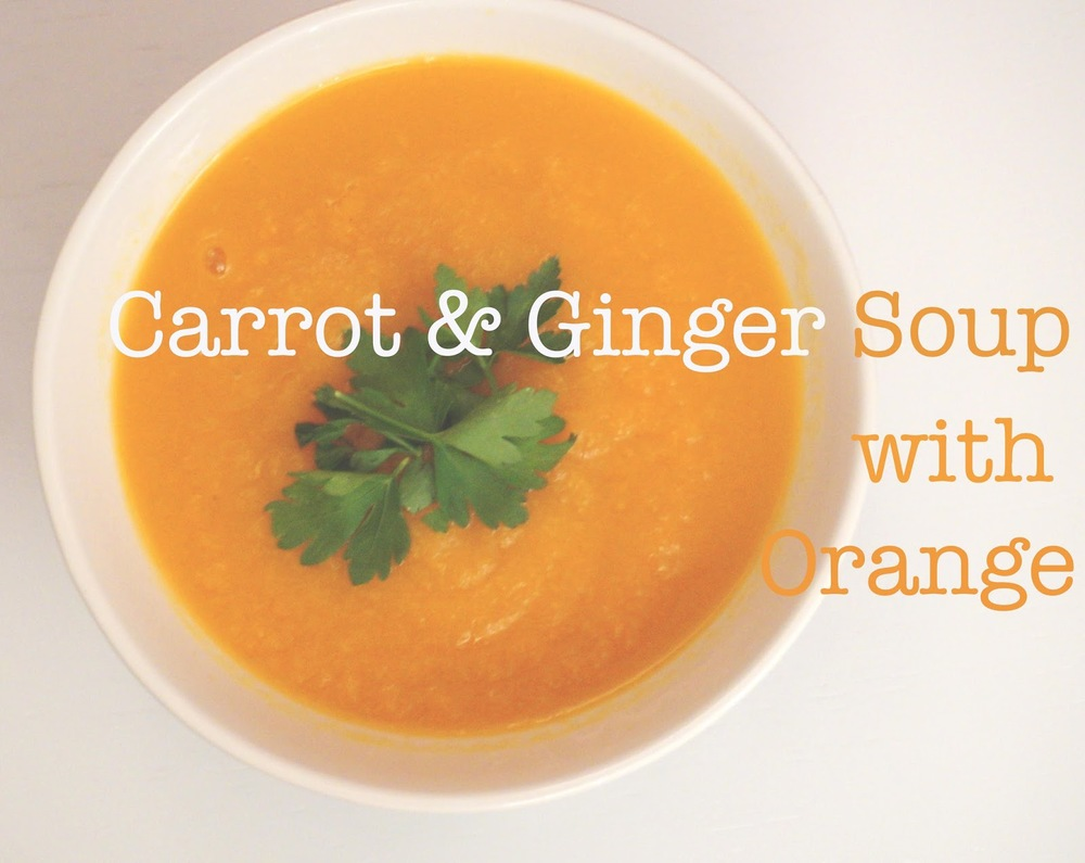 meg-made: Carrot and ginger soup with Orange