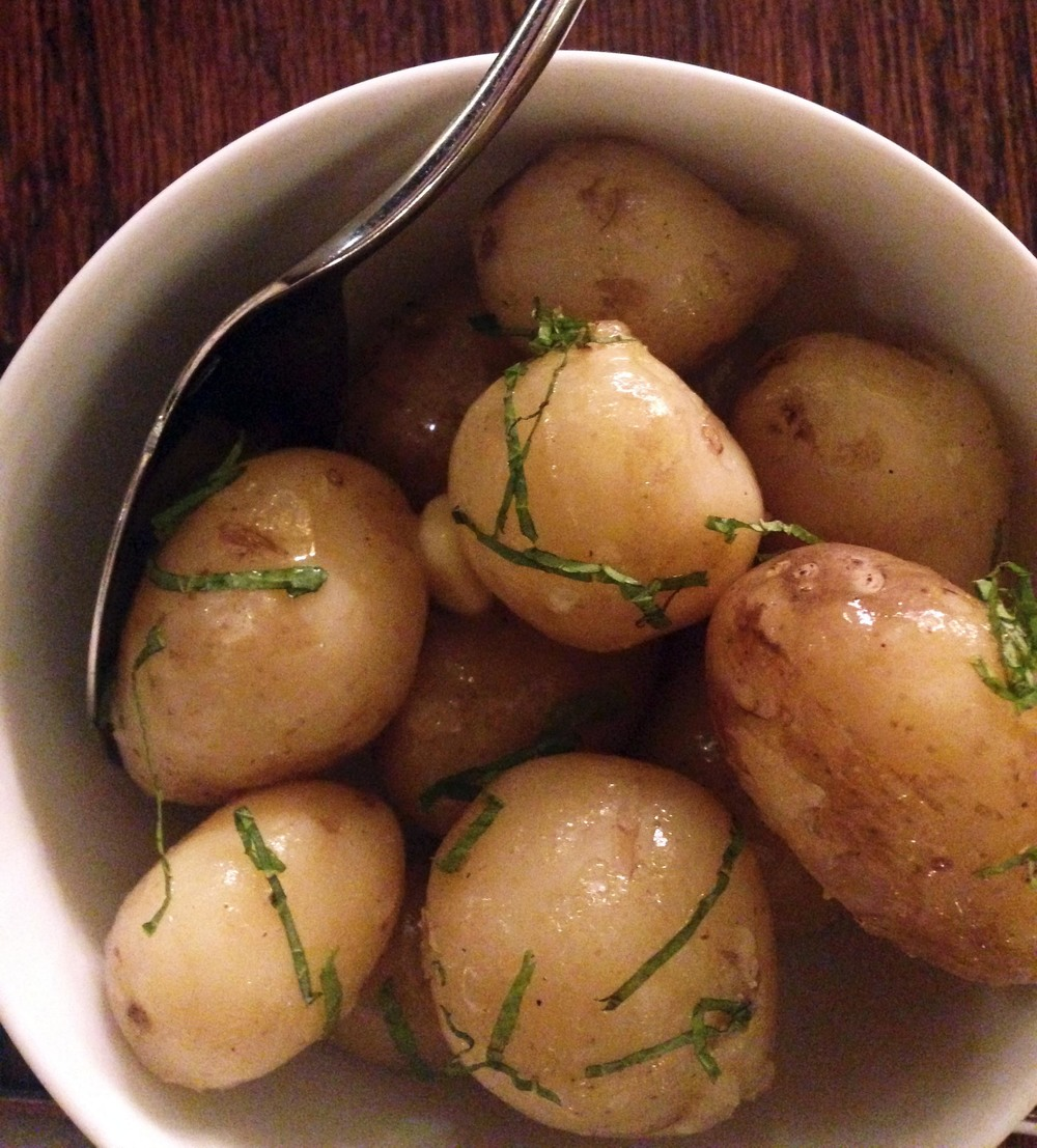 Served with Jersey Royal potatoes of course!