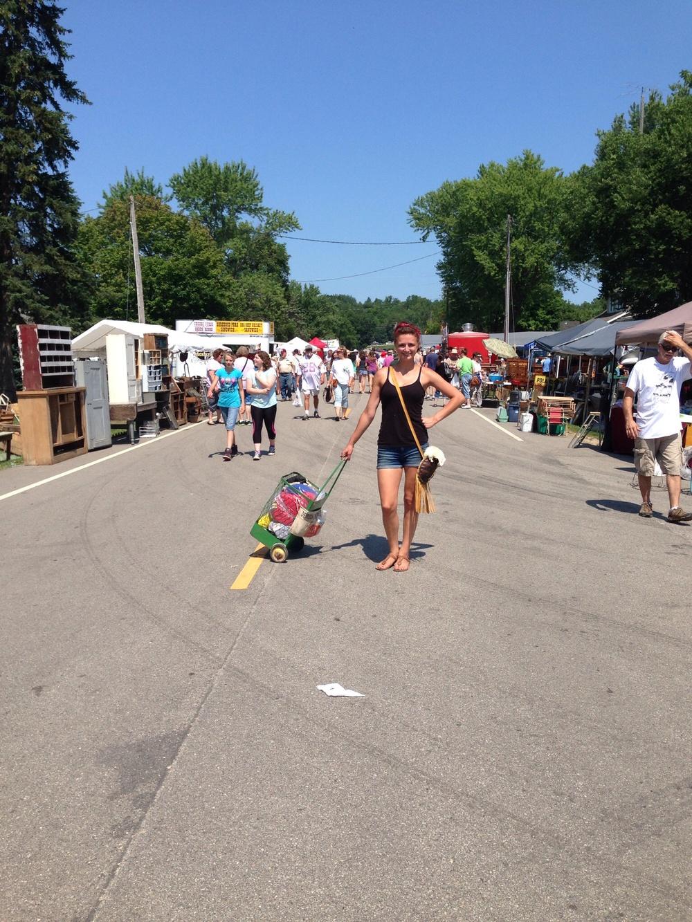 Mia Suntken at Oronoco Gold Rush Days in Minnesota, August 14th, 2015.